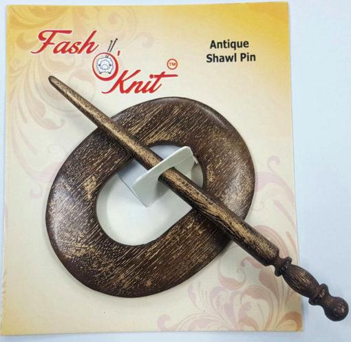 oval shape mango wood shawl pins