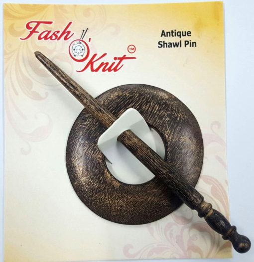 circle shape mango wood shawl pins