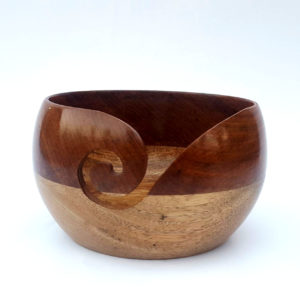 Mango Sheesham wood Yarn Bowl Holder