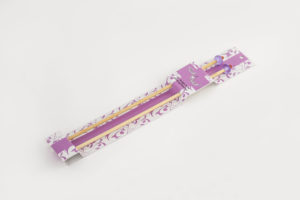 purple bamboo single point knitting needles acrylic top end