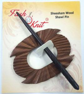 double deck sheesham wood shawl pins
